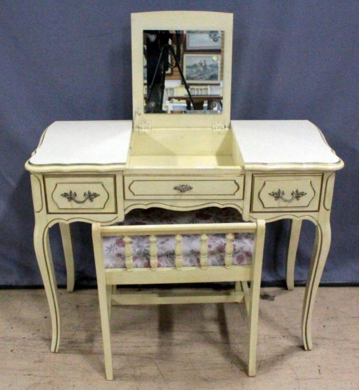 French Provincial Makeup Table