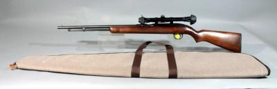 Winchester Model 77 Rifle, .22 L, SN# 74998, Weaver V22-A Riflescope, Moose Brand Soft Case