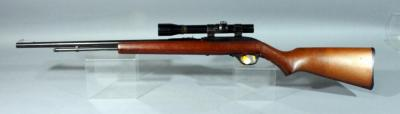 Marlin Firearms Model 60W 125th Anniversary Special Edition Rifle, .22 LR, SN# 10504707, Bushnell Scope Chief 3x Scope, Gold Trigger, Coin Inlay