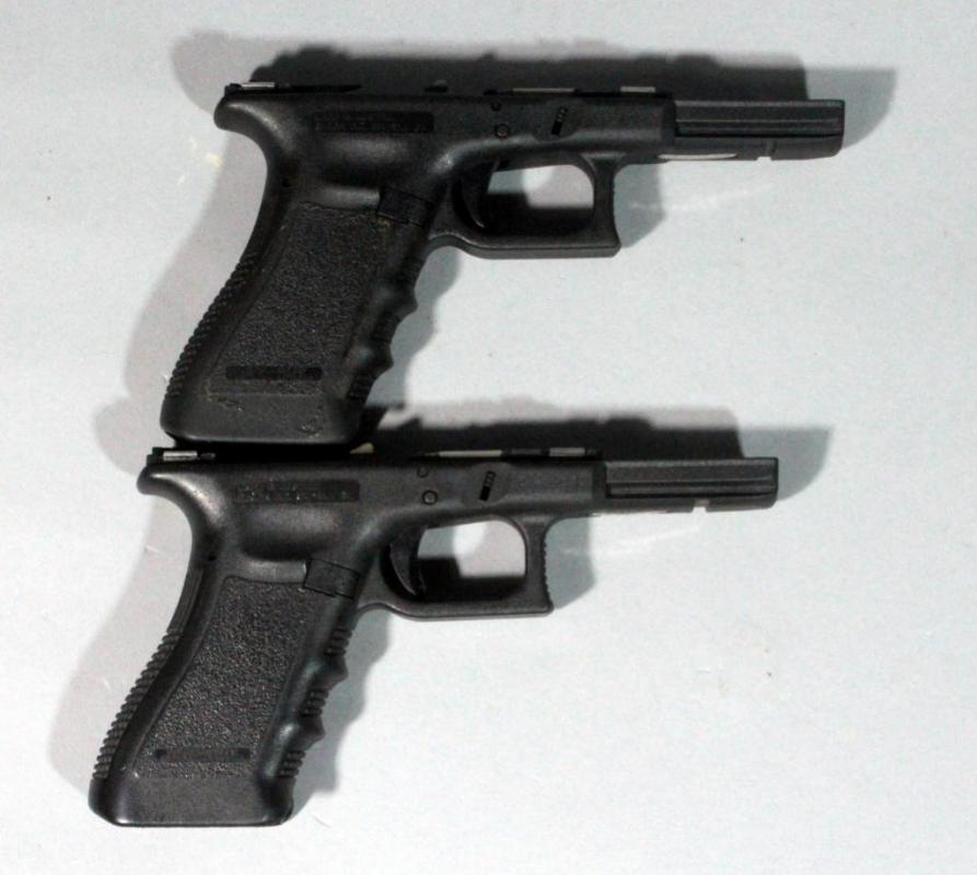 Glock G17 / G22 Gen 3 Complete Frames w/ Small Parts, Qty 2, SN#\'s ...