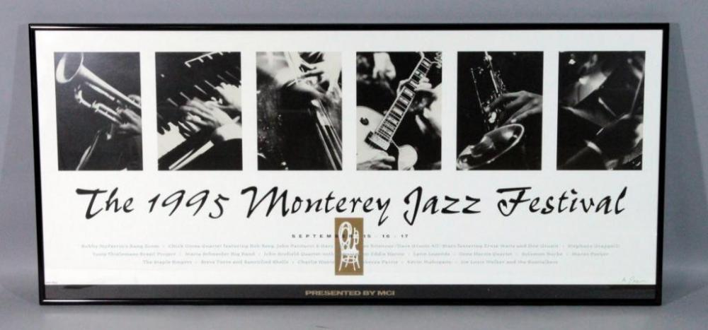 1995 Monterey Jazz Festival Poster 300/1500 Signed But