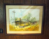 "Framed Water Color Art; Norbourne Diner 30"" x 36"" And Wood Mill 31"" x 34"", Artist Unknown Qty. 2"