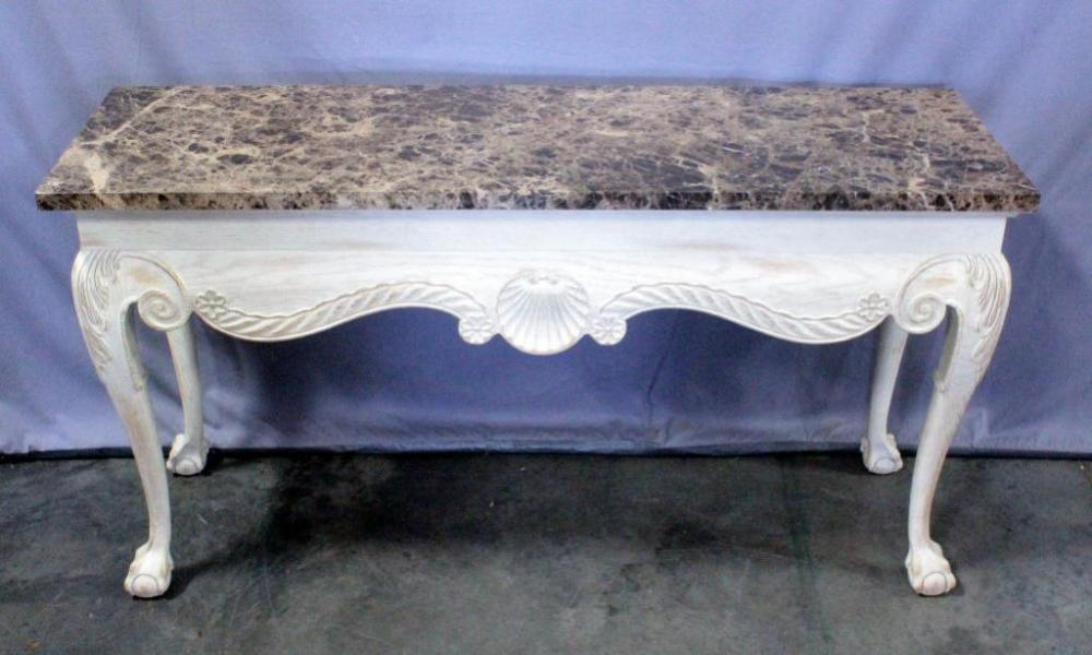 Wondrous Chippendale Style Entry Console Table With Carved Shell Theyellowbook Wood Chair Design Ideas Theyellowbookinfo