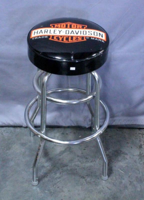 Groovy Harley Davidson Padded Bar Stool Made By Ace Product Squirreltailoven Fun Painted Chair Ideas Images Squirreltailovenorg