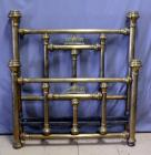 "Full Size Brass Bed with Headboard and Footboard, Headboard Measures 56.5""W x 59""H"