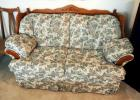 "Upholstered Love Seat With Solid Wood Trim, 38""H x 67""W x 36""D, Matches Lot 14 And 16"