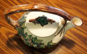 McCoy Ivy Tea Pot With Small Chip On Lid