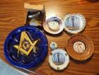 Mason Ash Tray, Brass Butterflies, Miniature Coffee Cups And More, Total Qty 7