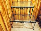 "Wrought Iron Patio Coffee Table 18"" x 36""L x 16""D And Matching End Table 23""H x 24""L x 16""D"