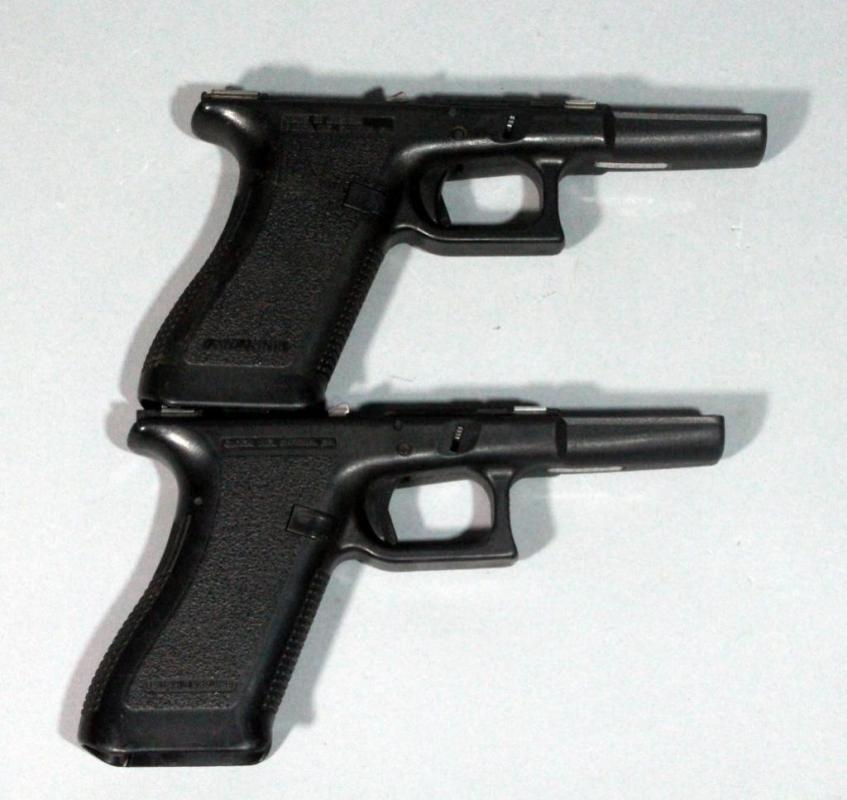 Glock G17 Complete Frames with Small Parts, 9mm, Qty 2, SN# RT643US ...