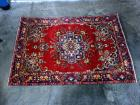 "1940's Tabriz Authentic 100% Hand Knotted Persian Rug, 100% Wool Loomed, 9'4"" x 6'3"", Some Wear Due to Age"