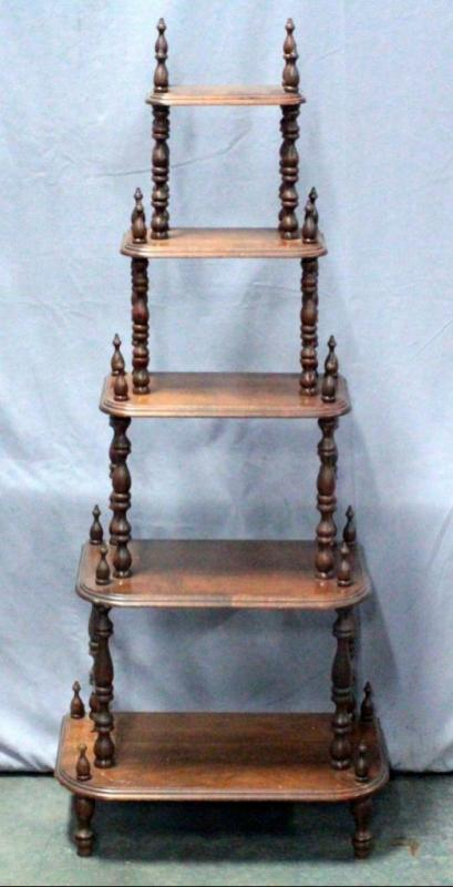 Victorian EtagereWhat Not Shelf for display
