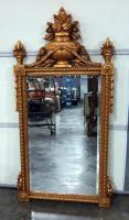 "Ornate Gilded Wall Mirror with Beveled Glass, 30.5""W x 62.5""H"