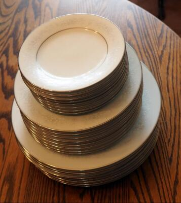 Noritake, Cumberland Japanese China, 8 Place Setting, Including Saucer, Salad And Dinner Plates, 24 Total Pieces