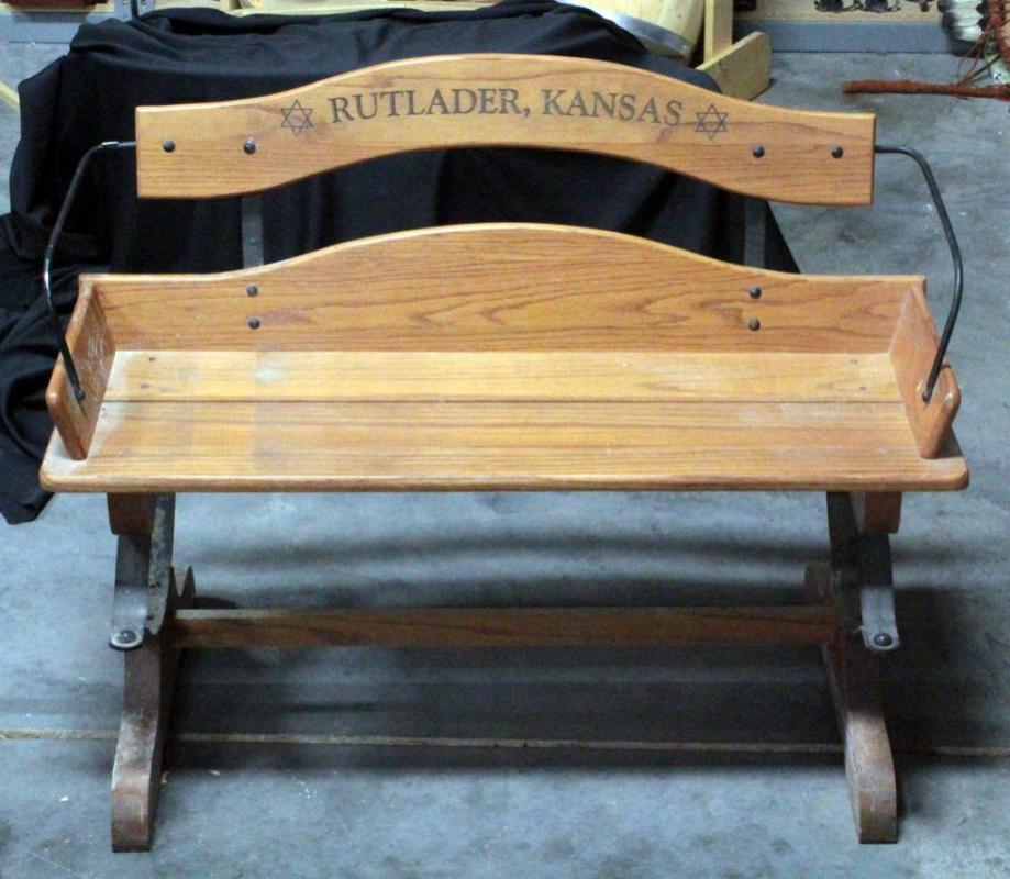 Awesome Buckboard Bench Seat Marked Rutlader Kansas 31H X 42W X 18D Inzonedesignstudio Interior Chair Design Inzonedesignstudiocom