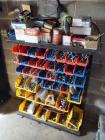 Large Assortment Of Hardware, Nuts, Bolts, Washers And More Includes Bins And Parts Bin Rack