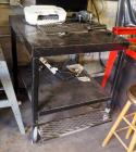 "Custom Heavy Duty Shop Table 41""H x 36""W x 36""D With Two Shelves And Foot Rest, Contents Not Included"