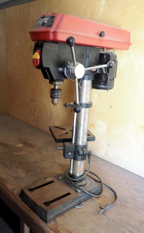 Brilliant Skil 10 Bench Top Drill Press Model 3320 Andrewgaddart Wooden Chair Designs For Living Room Andrewgaddartcom