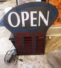 Lighted Open Sign With Chain Holders