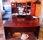 "U Shaped Secretary Desk 30""H x 65"" x 27"", 30"" x 64"" And 30"" x 65"" And Hutch 38""H, Contents Not Included"