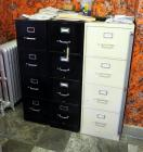 "Steelcase Metal 4 Drawer Filing Cabinets Qty 3, 52.5""H x 15"" And One 52.5"" x 18""W All 26.5""D"