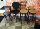 Bar Stools Qty. 4, Rolling Office Chair, Folding Chair And Stool