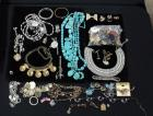 Large Assortment Costume Jewelry, Faux Turquoise, WHBM Necklace, Vintage Collar, Broaches And More, Good Jewelry Repair Lot, Contents Of Box