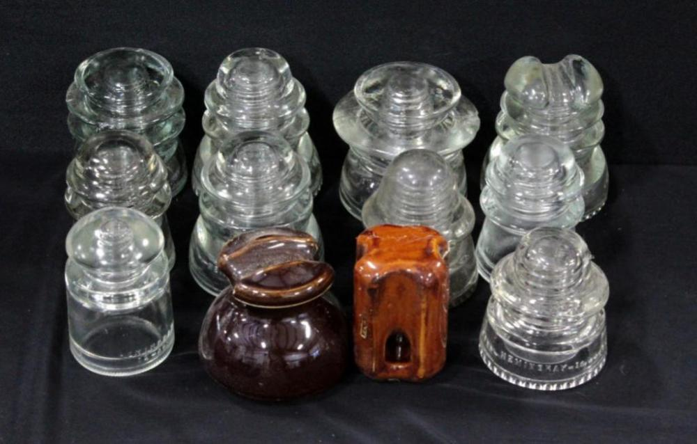 Antique Ceramic Brown Insulators, Other Insulators Include