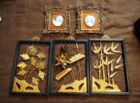 Asian Metal Plant Life Framed Art And Framed Cameos