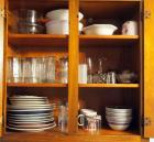 Contents Of Cabinet To Include Plates, Glasses, Bowls, Coffee Mugs And More