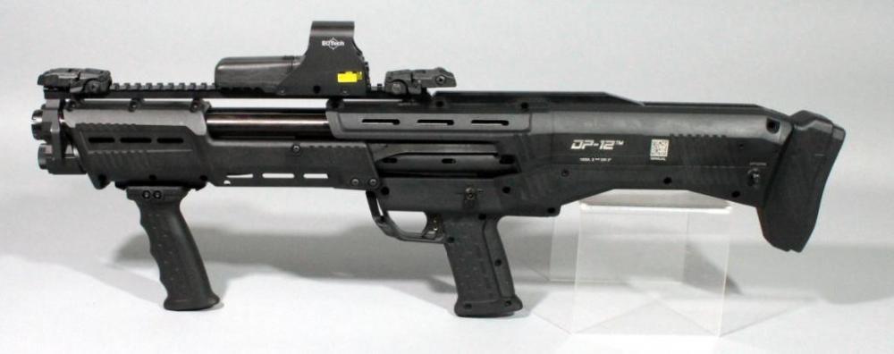 Lot 4 of 381: Standard MFG Co. DP-12 12ga. Pump, Double Barrel Shotgun, SN#  DP02088, With EOTech Holographic Sight