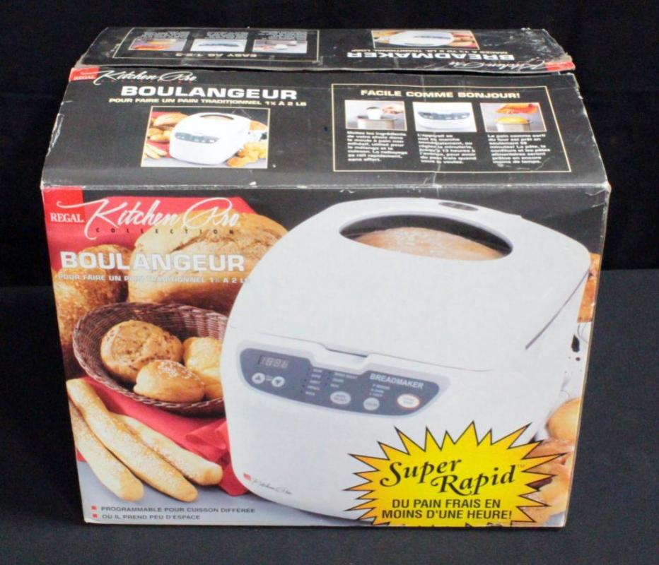 Regal Kitchen Pro Collection Bread Maker In Original Box