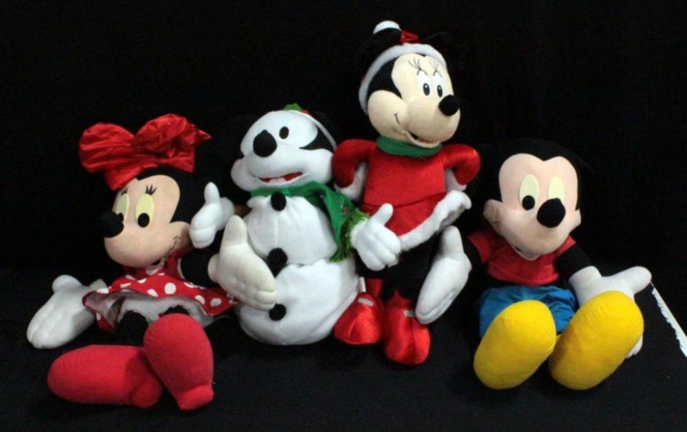Christmas Minnie Mouse Plush.Mickey Mouse And Minnie Mouse Plush Christmas Dolls Approx