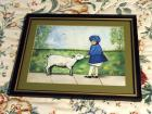 "Hand Painted Framed Isabell Stockwell Art, 12"" x 15"""