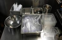 Stainless Steel Food Prep Bowls And Storage Containers, Approx. 18 Pieces Total