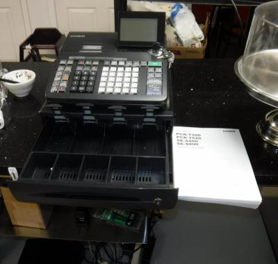 Casio Electronic Cash Register Model # PCR-T500, Includes User Manual And Register Keys