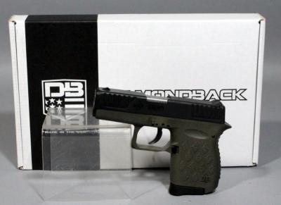 Diamondback DB9 9 x 19 Semi-Automatic Pistol SN# YH9826 With Soft Case, Box And Paperwork