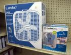 "Lasko 20"" Box Fans Qty 2, And Comfort Zone 9"" Box Fans QTY 2, New In Box"