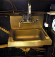 "Stainless Steel Hand Sink With Bar Faucet, 12"" x 15"", Bidder Responsible For Proper Removal"