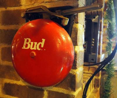 "8"" Budweiser Fire Bell, Bidder Responsible For Proper Removal"