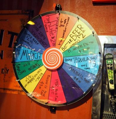 "28"" Spin The Wheel, Prize Wheel, Bidder Responsible For Proper Removal"