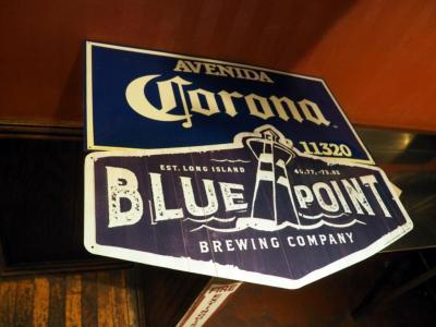Metal Bar Advertisements, Blue Pointe, Corona, Bulleit Bourbin And Founders Season Ale, Qty 4