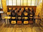 "32"" Dining Chairs With Metal Frame And Wood Seat, Qty 10"