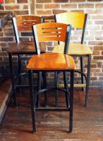 "45"" High Back Bar Stools, Qty 3"