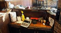 Canon Electronic Adding Machines Qty 2, Desk Fan, Swingline Stapler, Clip Boards, Assorted Chargers, Alarm Clock And More