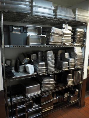 "Stainless Steel Storage Rack, 86"" x 72"" x 24"", Contents Not Included"