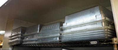 "26"" Plastic Restaurant Food Pans, Approx Qty 18, Contents of Top Shelf"