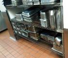 Stainless Steel Restaurant Pans Qty 100+ And Inserts, Contents Of 2 Shelves