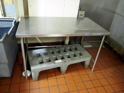 "Stainless Steel Prep Table, 36"" x 56"" x 33"""