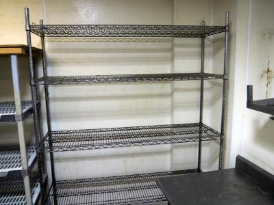 "Stainless Steel Adjustable Storage Shelf With 5 Shelves, 85"" x 60"" x 18"""